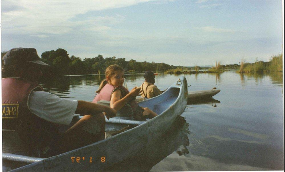 Me on a canoe on the Zambezi river in Zimbabwe when I was nine. I'd love to see Kenya!
