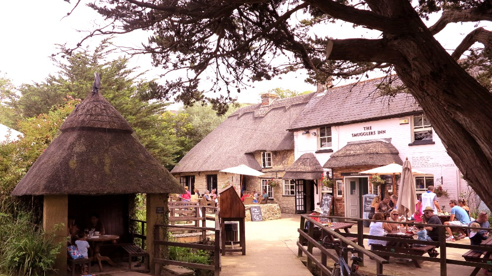 The Smuggler's Inn on the south coast of England - a good find at the end of a coast walk!