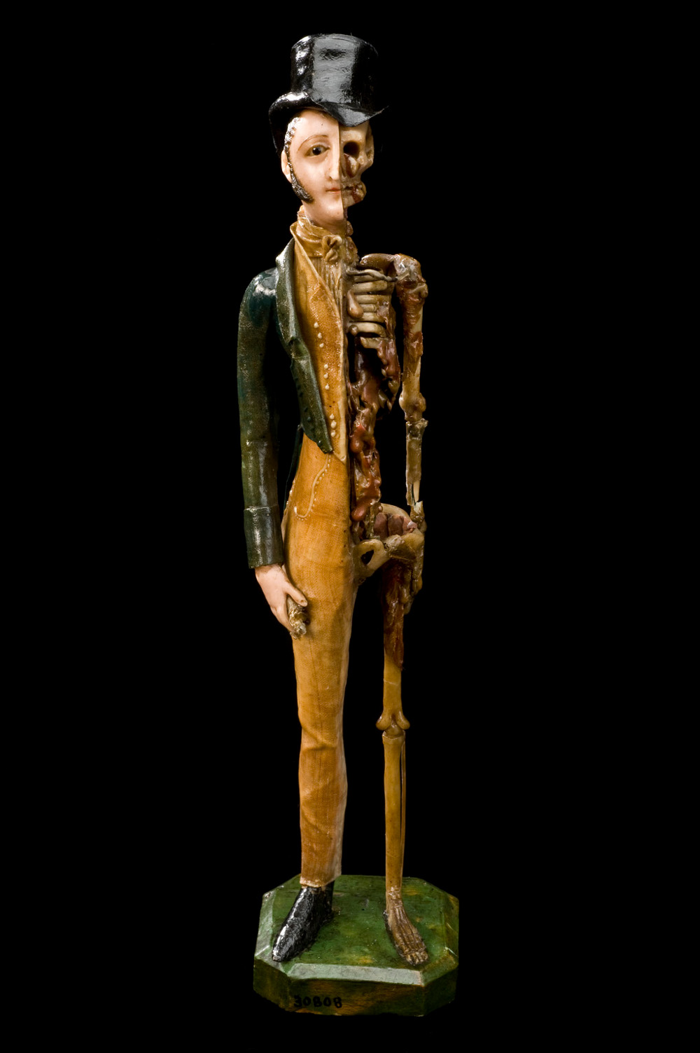 A male memento mori - an artistic reminder of the inevitability of death