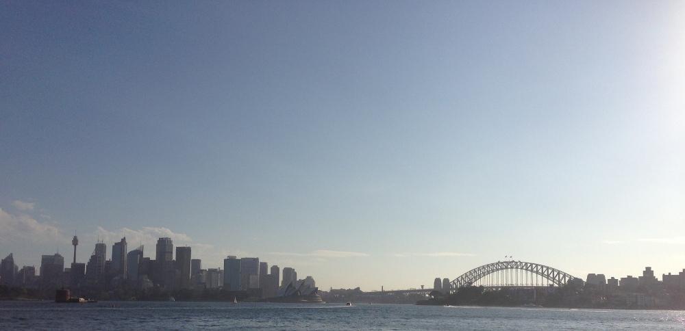 Sydney skyline - Double-barrelled travel