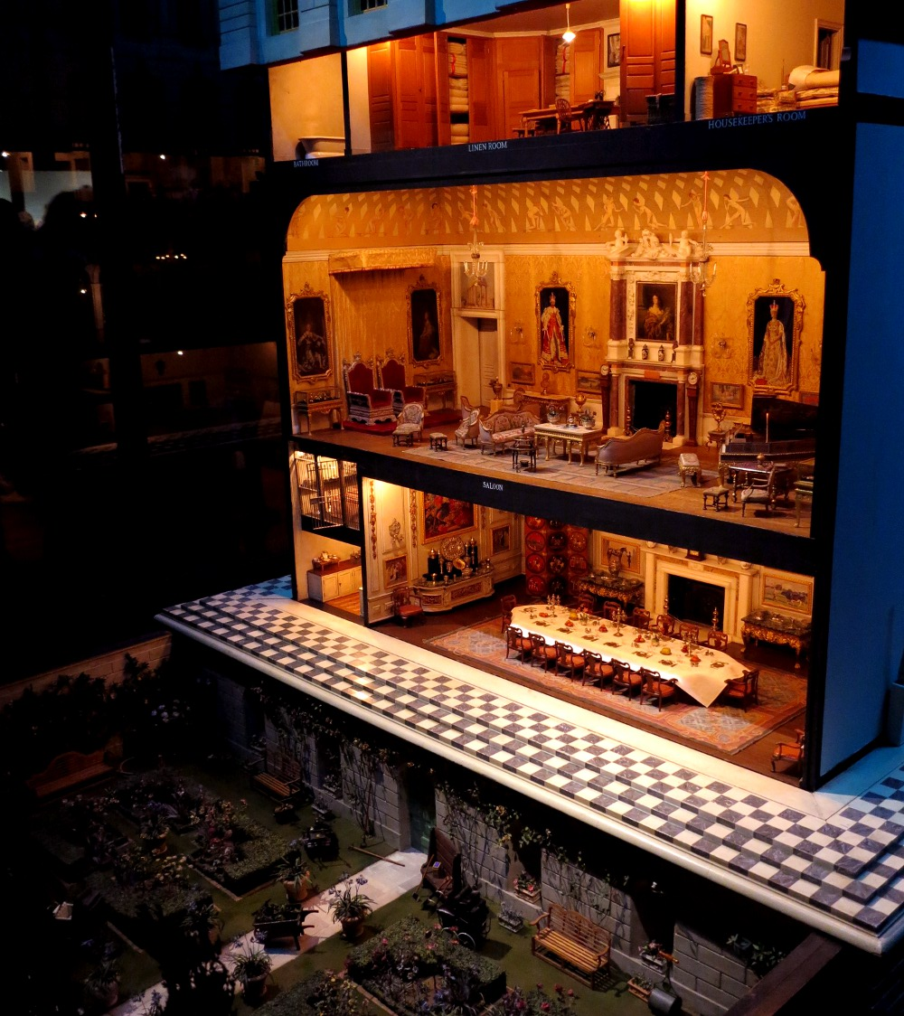 Queen Mary's Dolls' House is very impressive - it comes complete with miniature jewels!