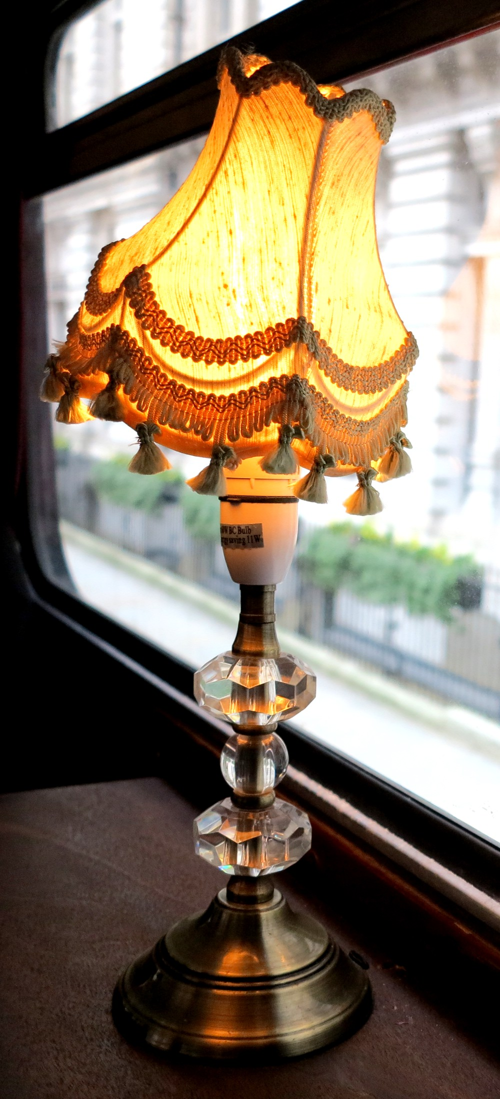 The fancy lamps from the London Time Tour bus