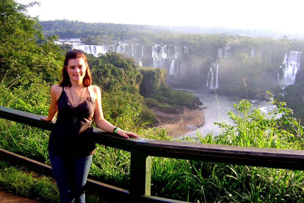 Carmen at Igauzo Falls in Brazil Double Barrelled Travel