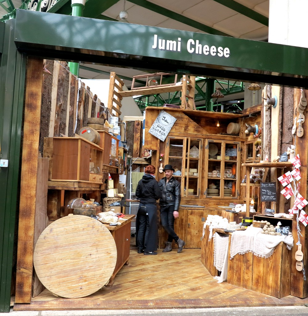Cheese for sale at Borough Market Double-Barrelled Travel