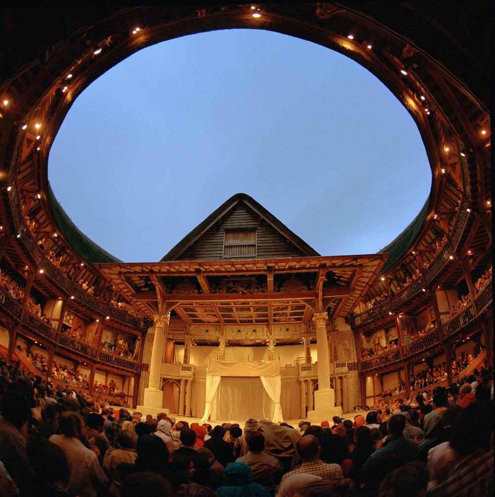Inside the Globe Theatre Double-Barrelled Travel