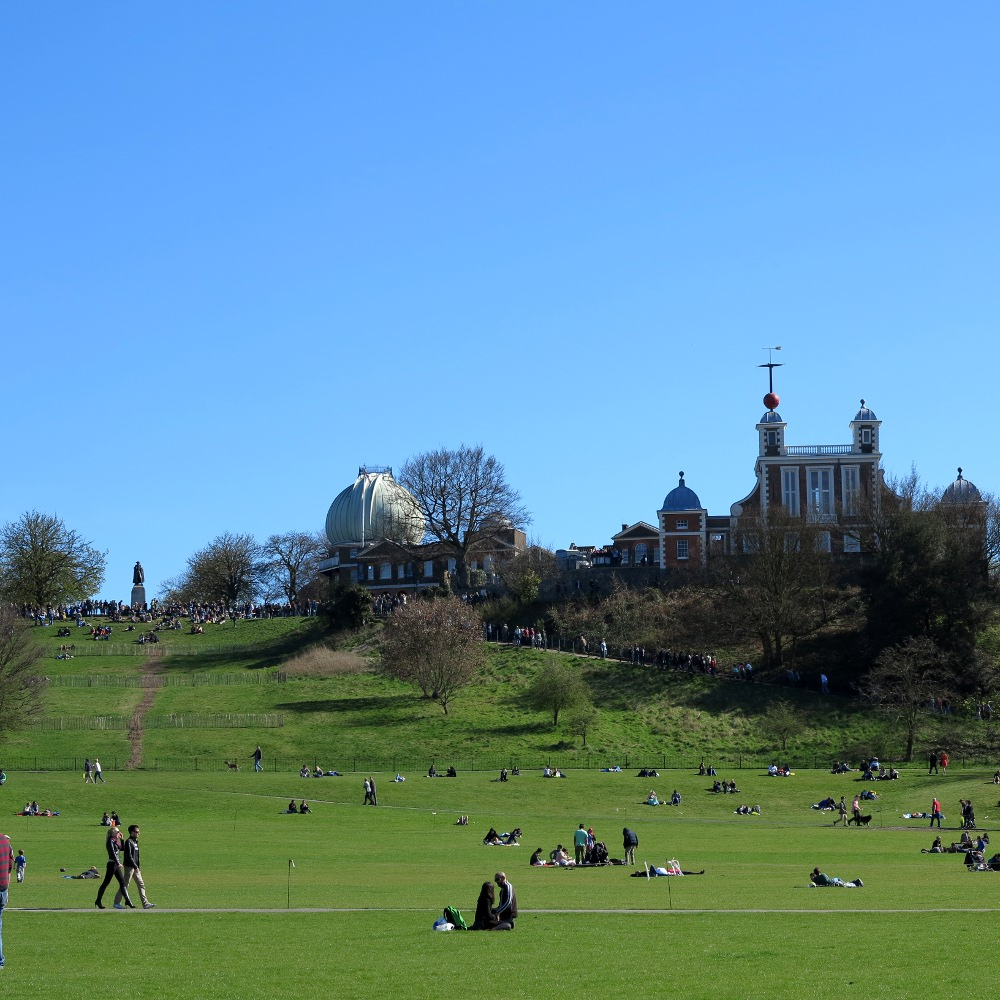 The Royal Observatory sits atop the big hill at Greenwhich