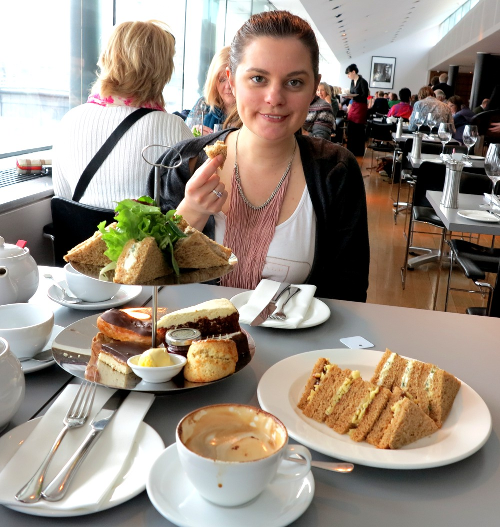 Eating cakes at the Portrait Gallery afternoon tea Double-barrelled travel