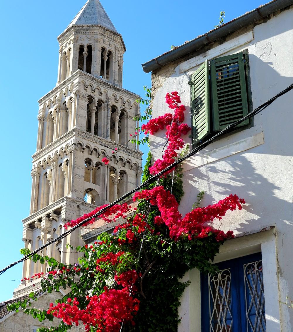 The bell tower of the Cathedral of saint Dominus is Split's main landmark and tolls every hour