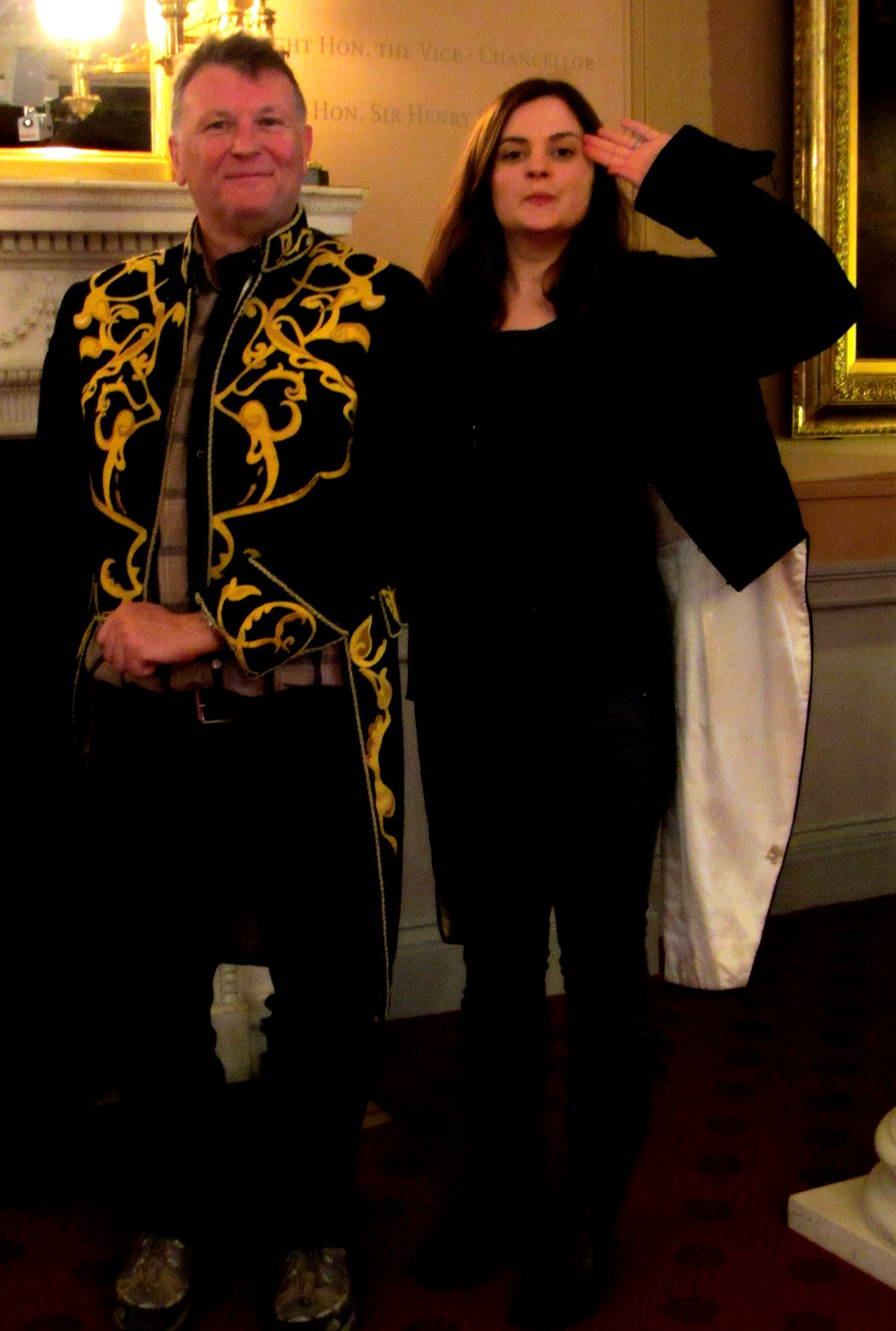 trying on costumes at Kensington Palace Double Barrelled Travel