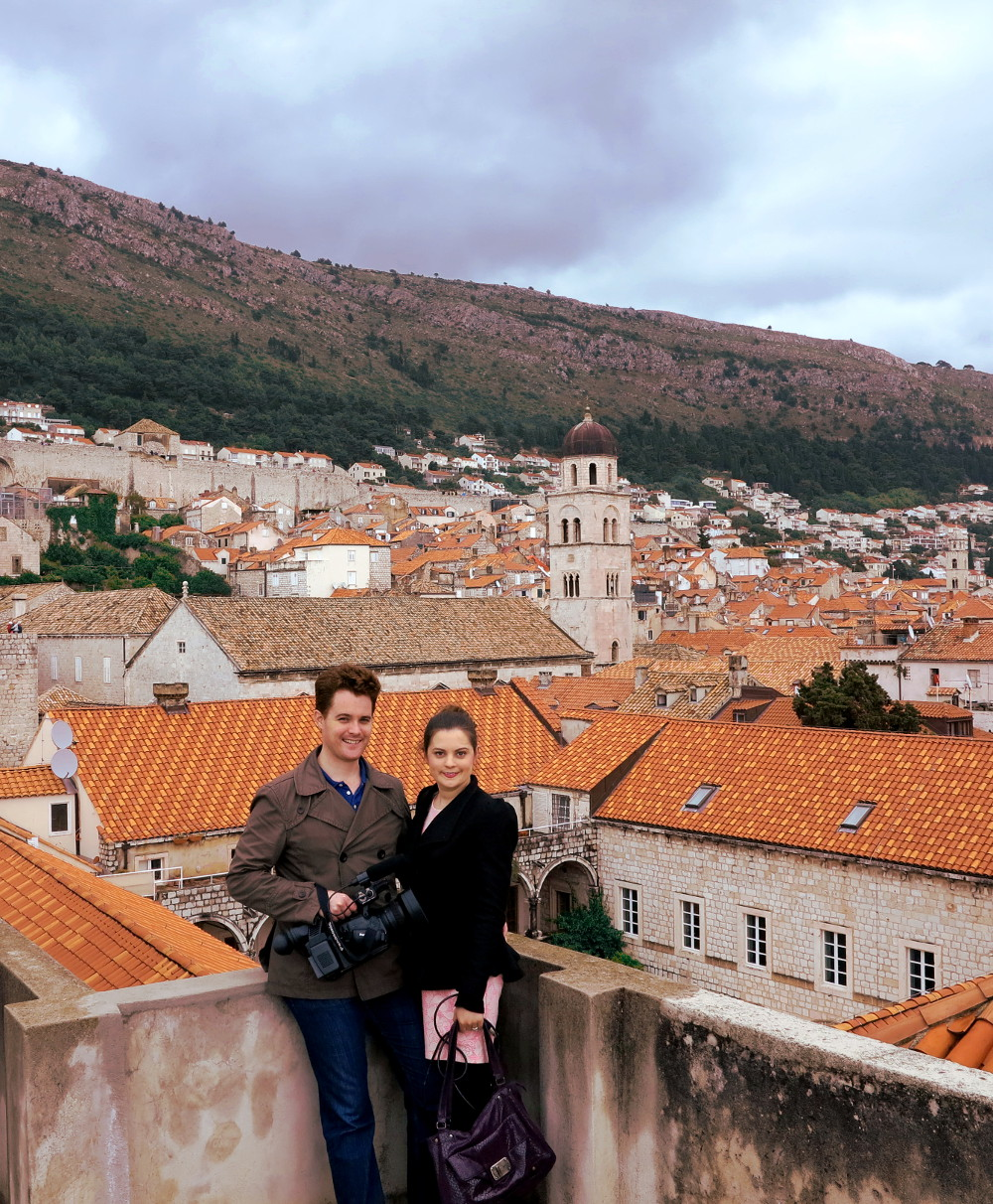 Carmen and Dave on Dubrovnik City walls Double-barrelled travel