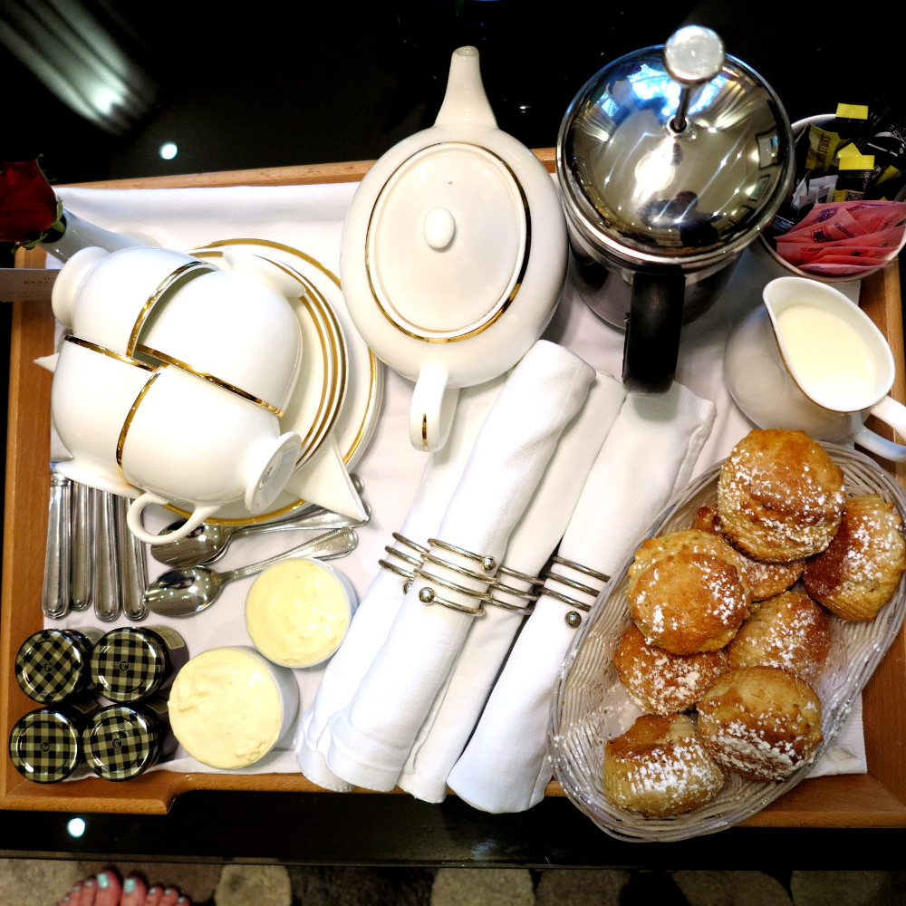 Cream tea at the Beaufort Hotel in Knightsbridge Double-Barrelled Travel