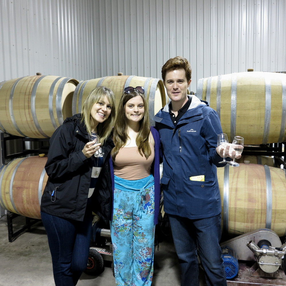 Dianna Carmen and Dave on wine tour Niagara on the lake Double-Barrelled Travel