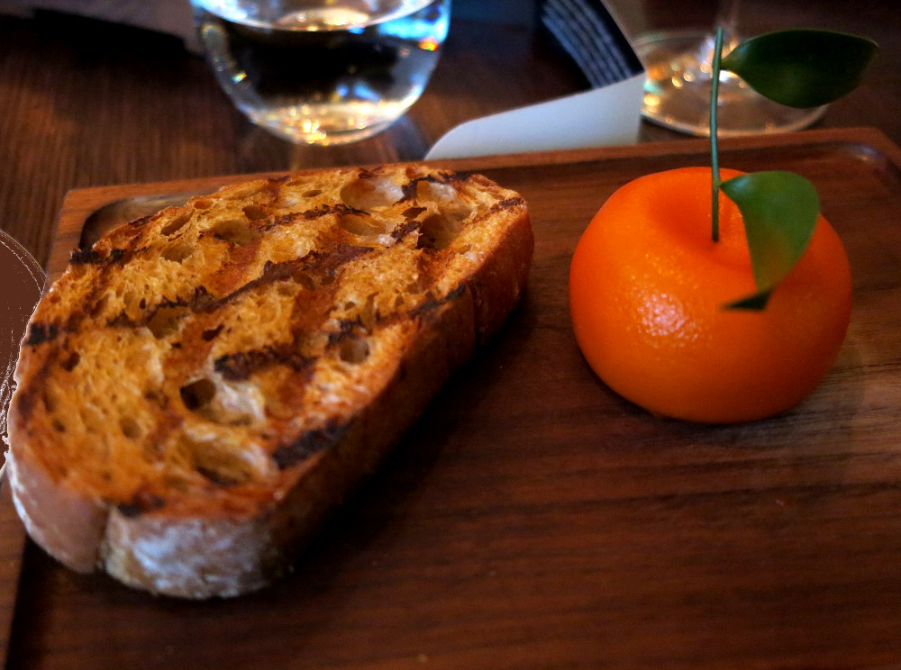 Meat fruit at Dinner by Heston Double-Barrelled Travel