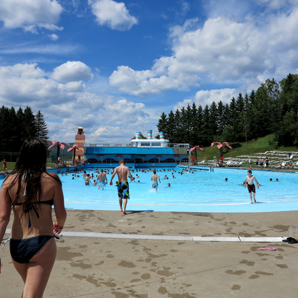Wave pool at Village Vacances Valcartier Double-Barrelled Travel