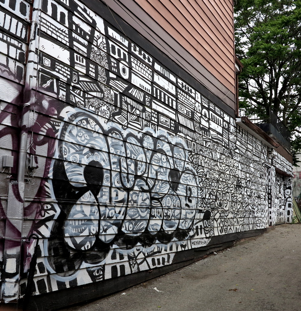 black and white graffiti in Kensington Market Double-Barrelled Travel