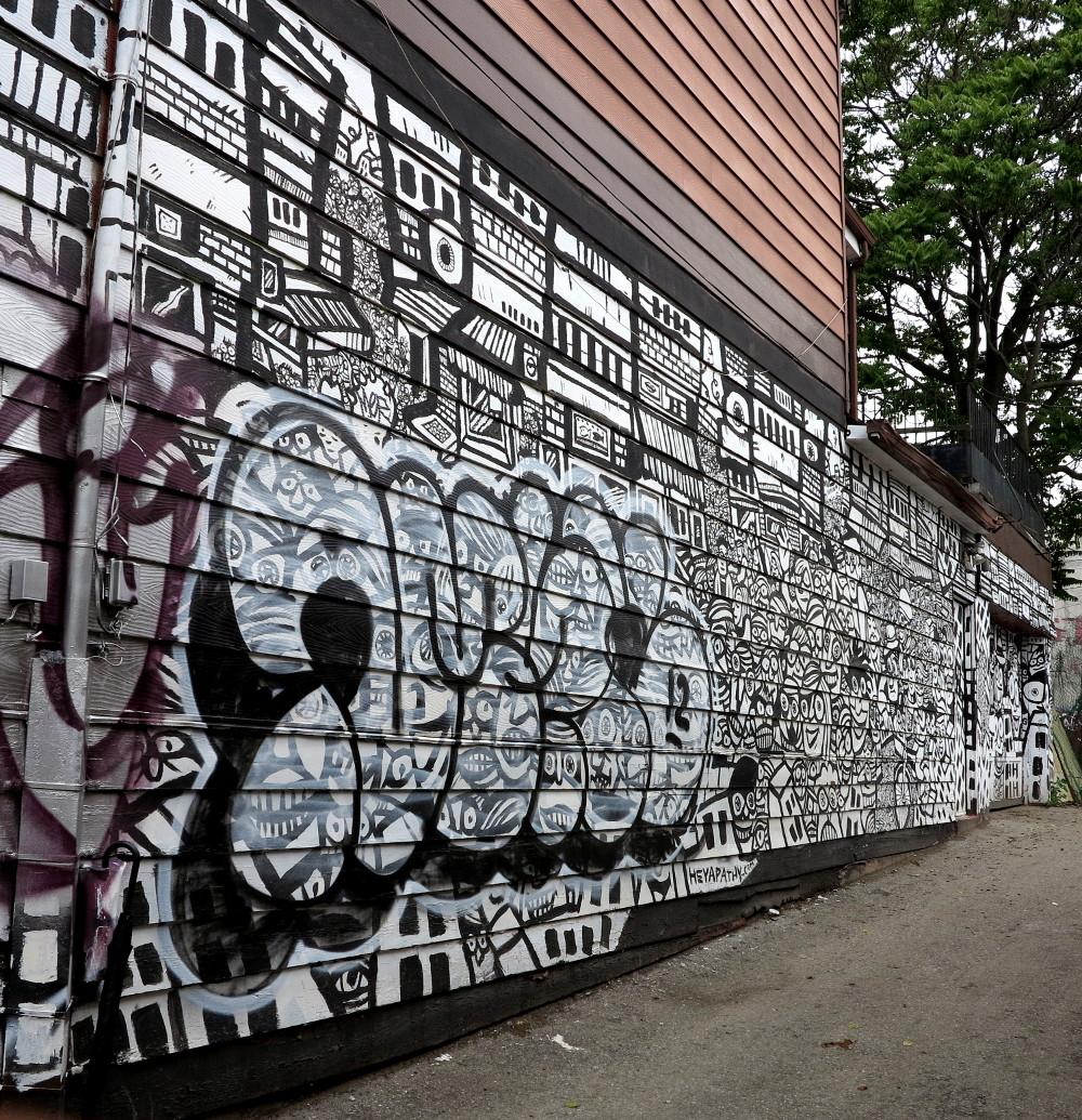 black and white graffiti in Kensington Market Double-Barrelled Travel