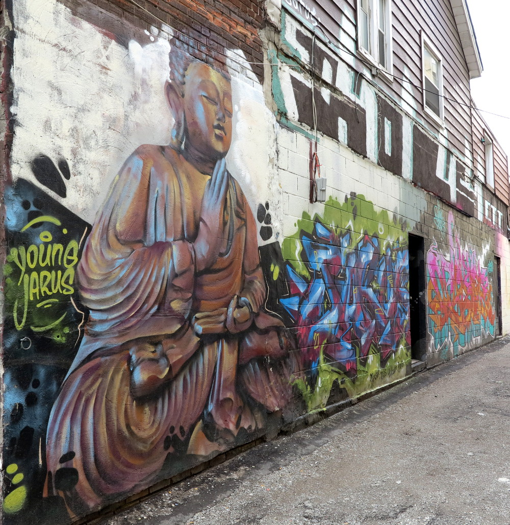 budda graffiti in Kensington Market Double-Barrelled Travel