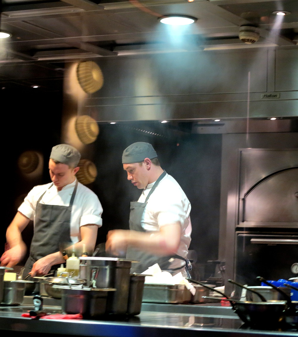chefs in the kitchen at Dinner by Heston Double-Barrelled Travel