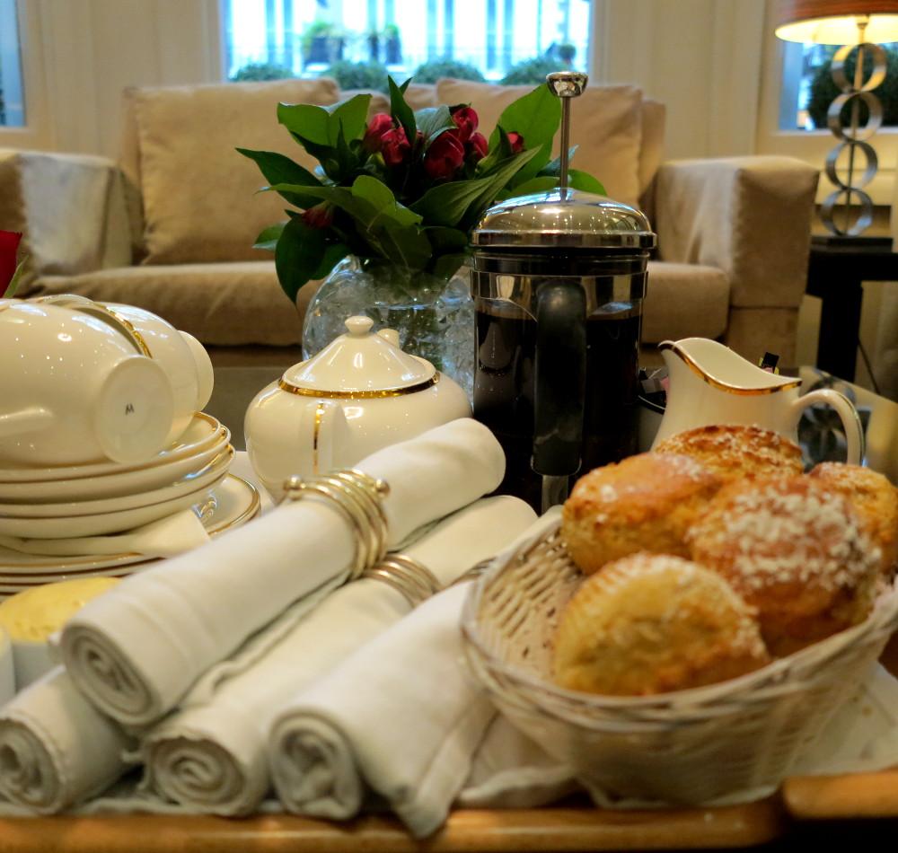 Scones, cream, jam, tea and coffee - excellent!