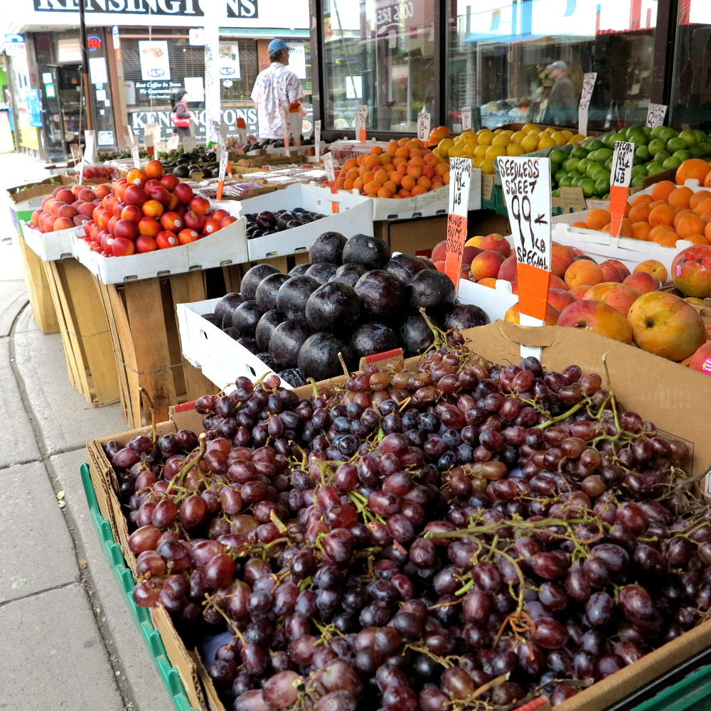 fruit stall in Kensington Market Double-Barrelled Travel