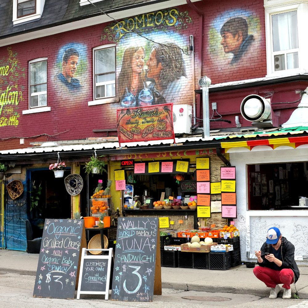 street scene in Kensington Market Double-Barrelled Travel