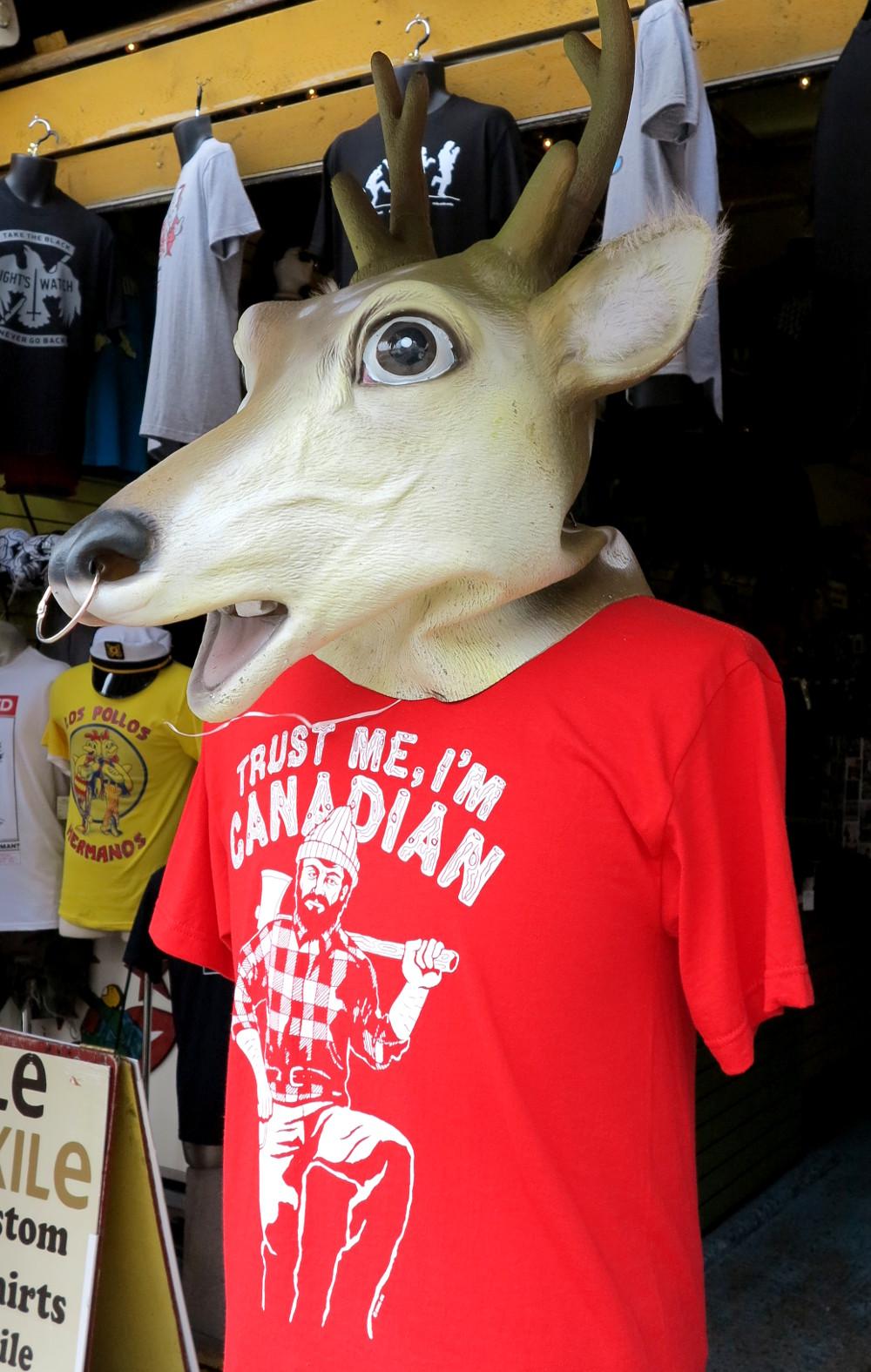 t shirt humour in Kensington Market Double-Barrelled Travel