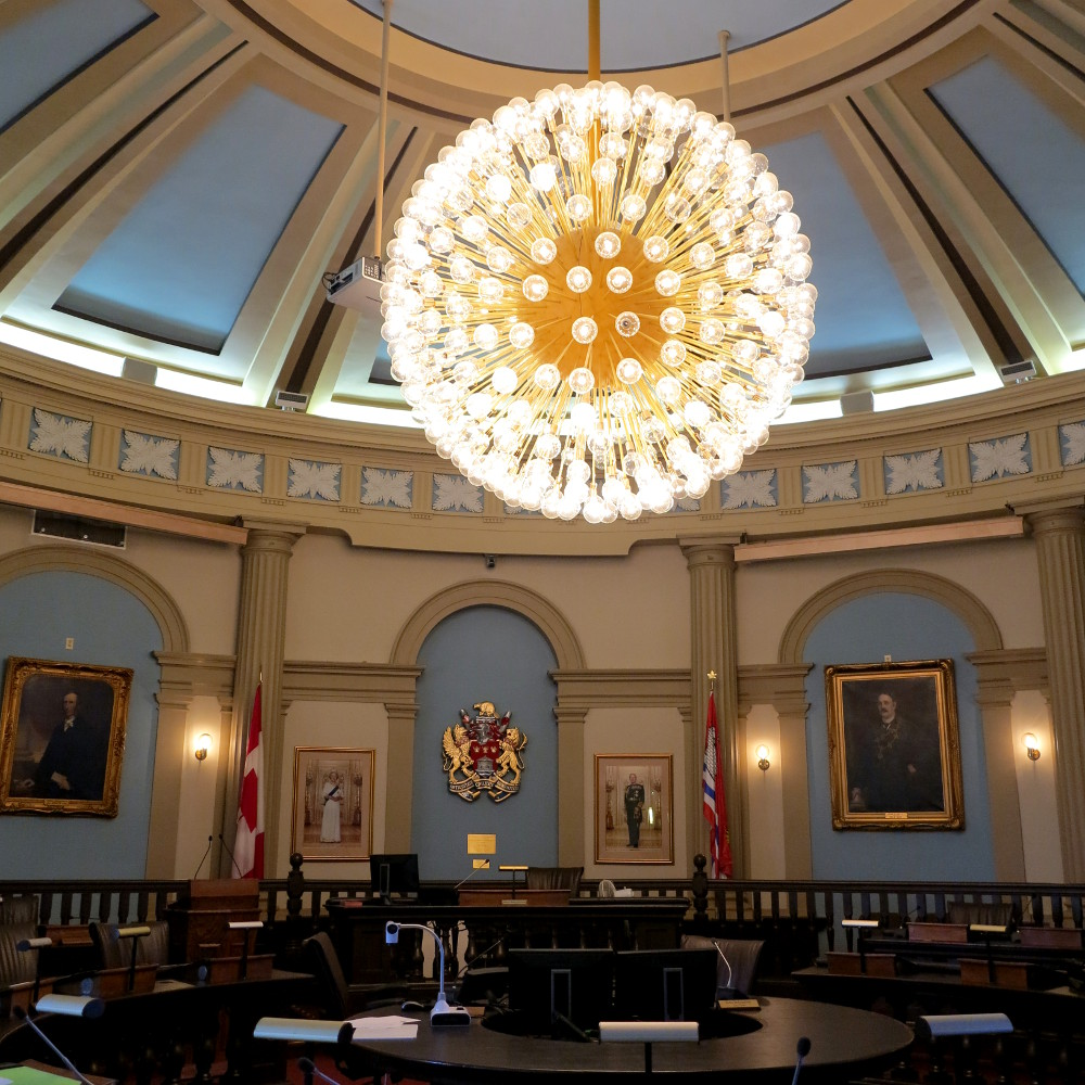 Kingston's Town Hall was supposed to be the parliament - Chris showed us its stunning interior