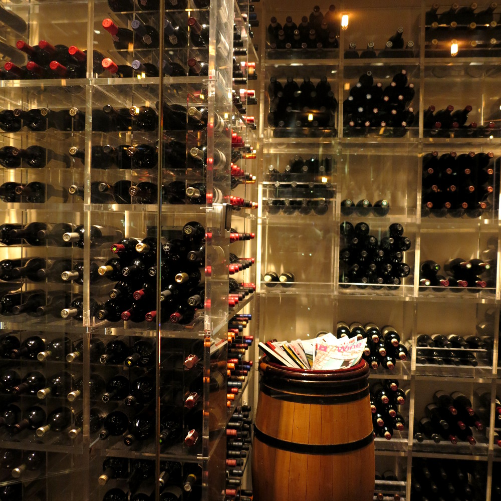 wine cellar at Dinner by Heston Double-Barrelled Travel