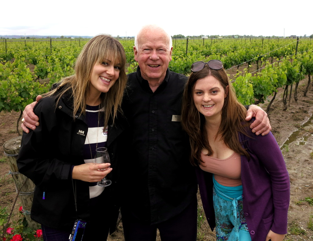 wine maker in the vineyard Niagara on the lake Double-barrelled travel