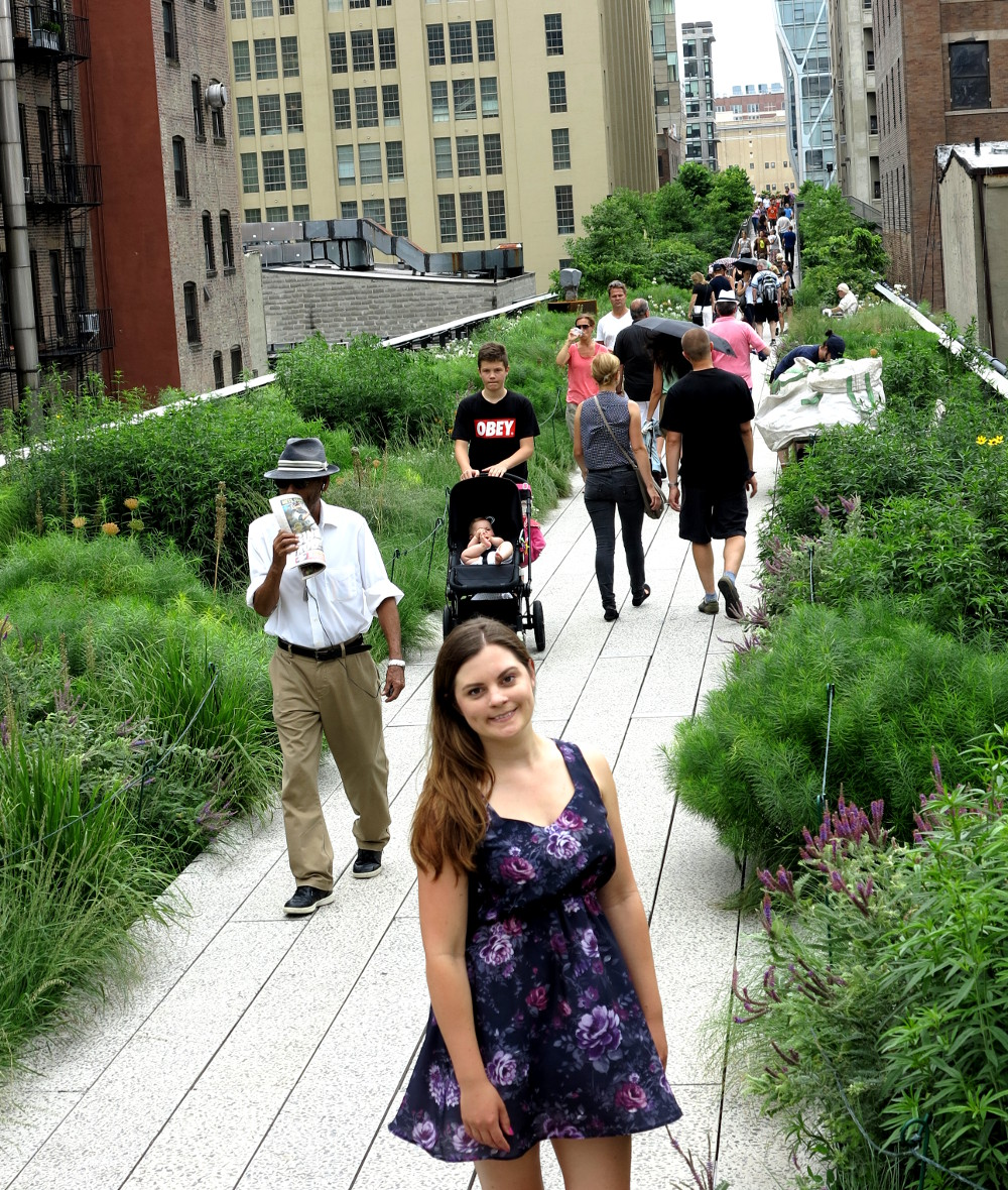 Carmen at the High Line  New York City Double-Barrelled Travel