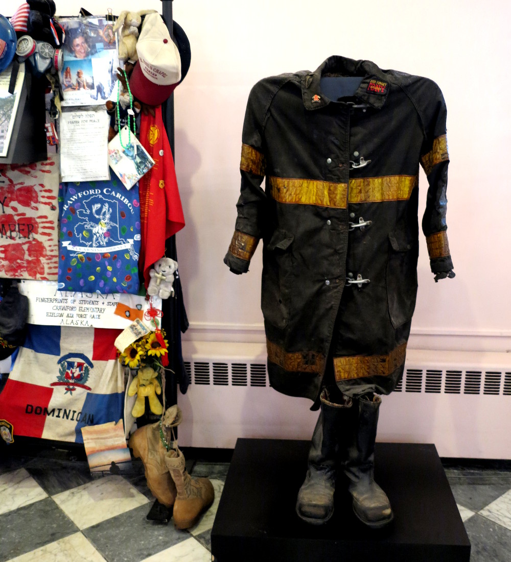 Fireman's outfit St Paul's Chapel New York City Double-Barrelled Travel