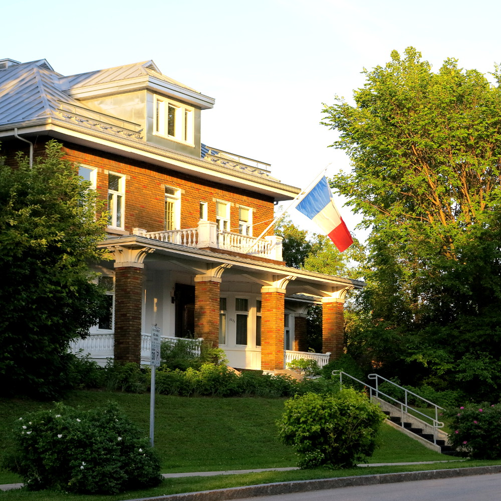 Houses of Quebec city double-barrelled travel