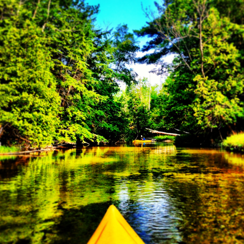 Kayaking near the Sleeping Bear Dunes Michigan Double-Barrelled Travel
