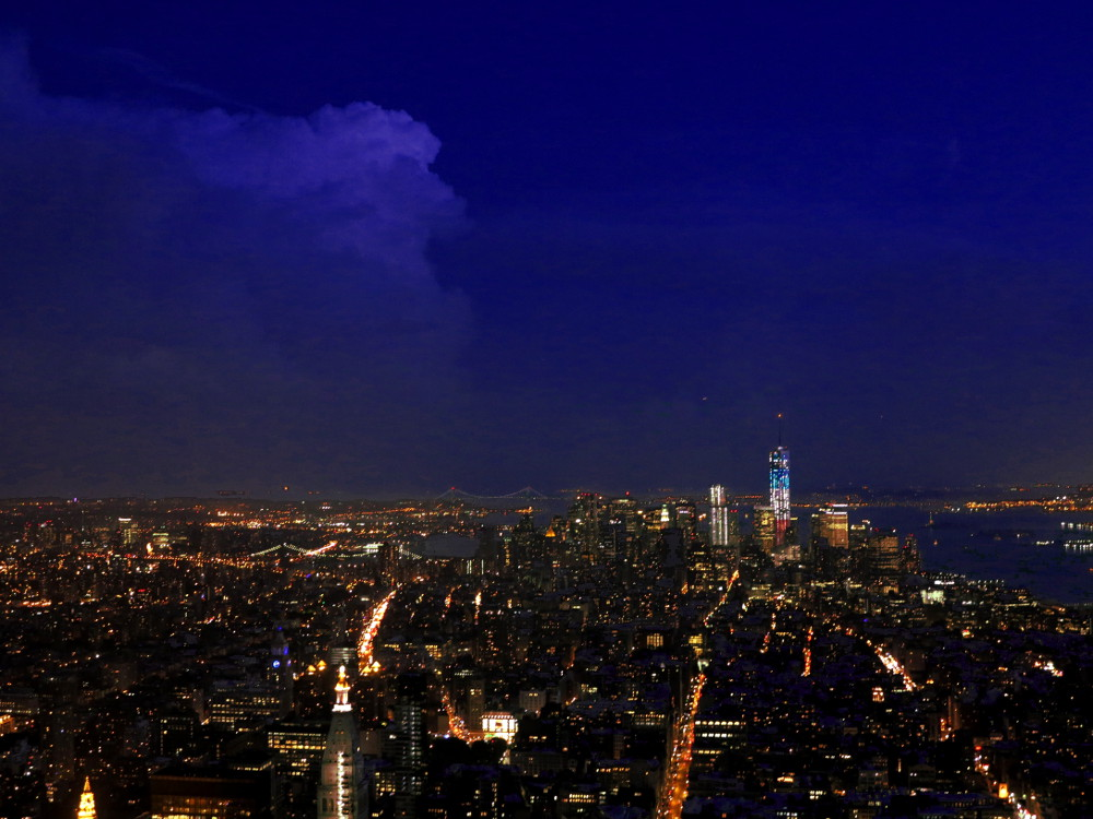 New York City at night from the Empire State building New York City Double-Barrelled Travel