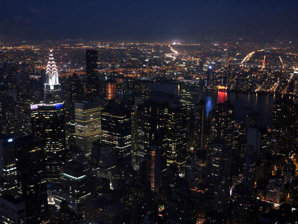 New York City at night from the Empire State building New York City Double-Barrelled Travel2