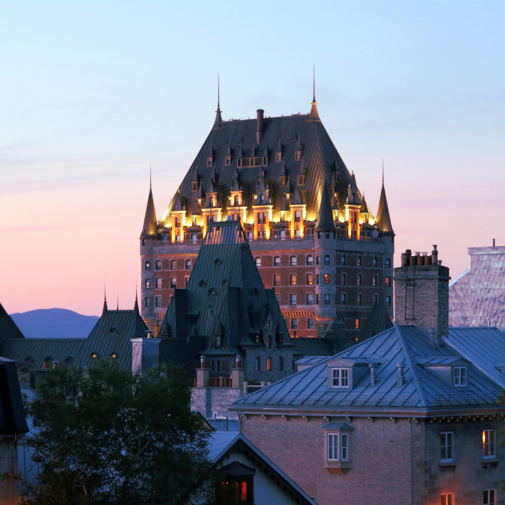 Quebec city hotel Fairmont Le Chateau Frontenac double-barrelled travel