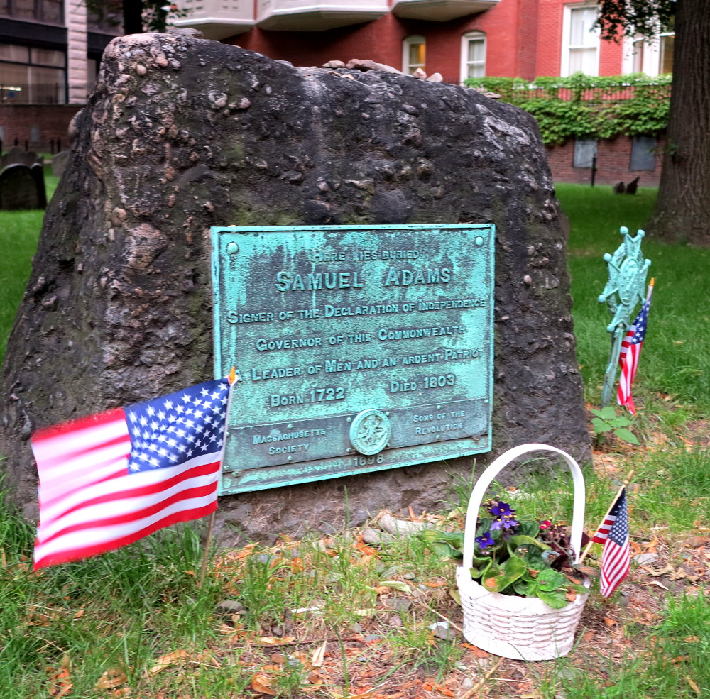 Samuel Adams' grave on the Boston Freedom Trail Double-Barrelled Travel
