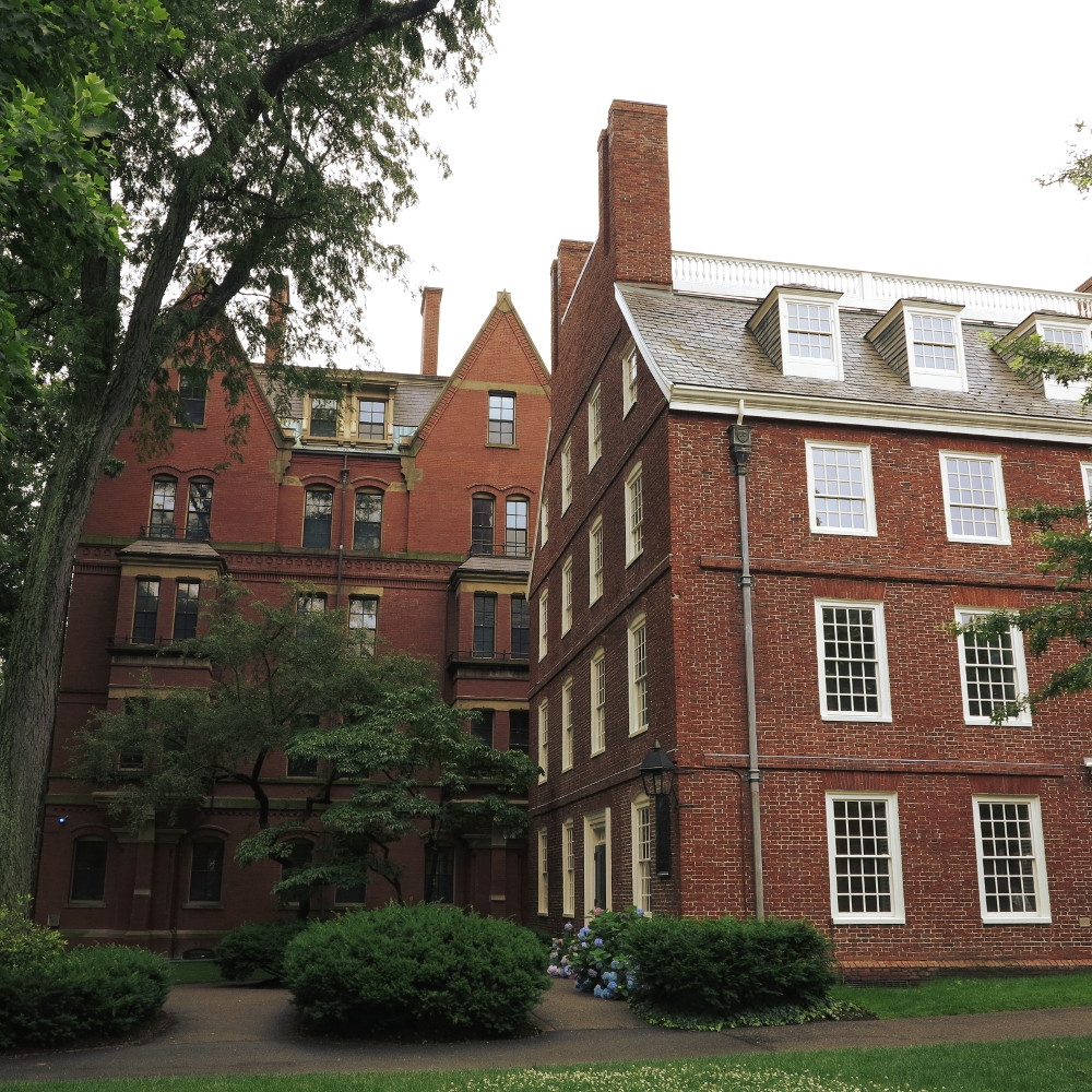 harvard university building double-barrelled travel