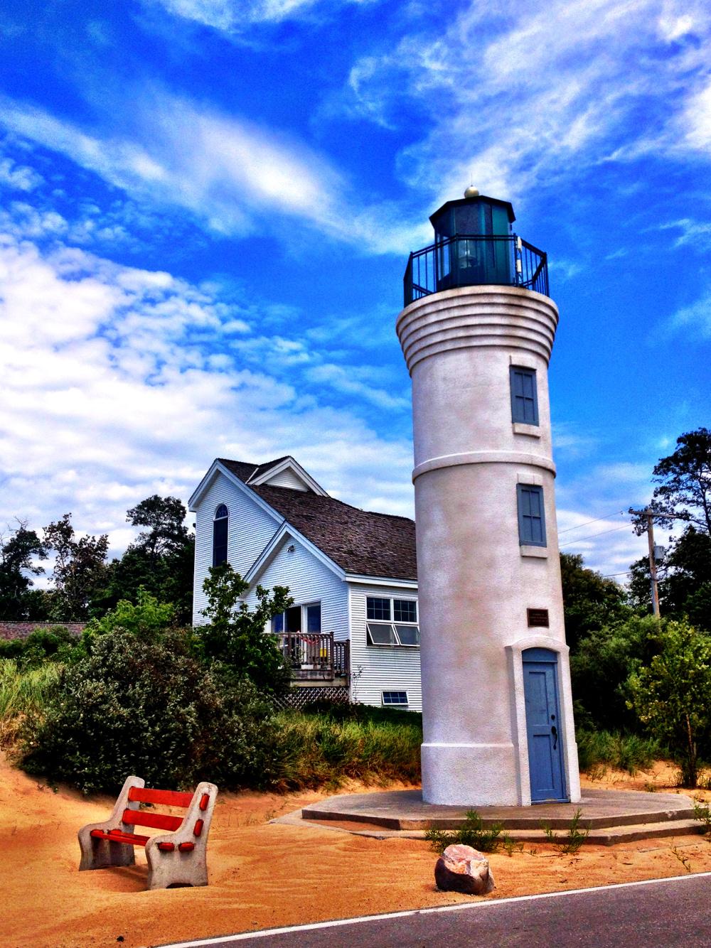 lighthouse near sleeping bear dunes Double-Barrelled Travel
