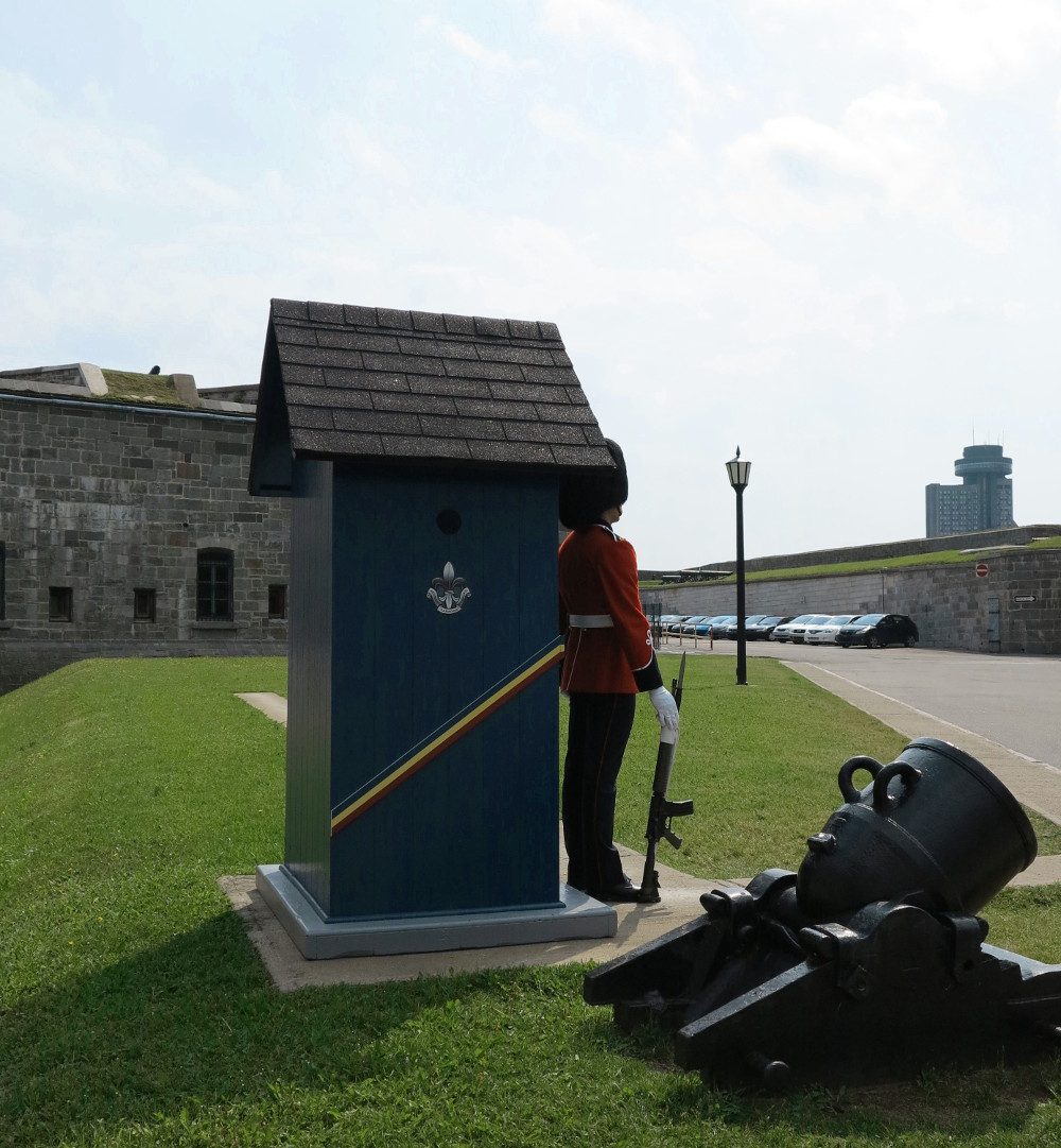 solider at the Quebec Citadel double-barrelled travel