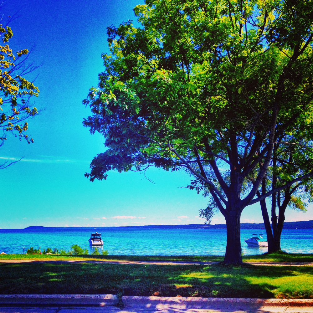 Beautiful view of Traverse Bay in Traverse City Double-Barrelled Travel