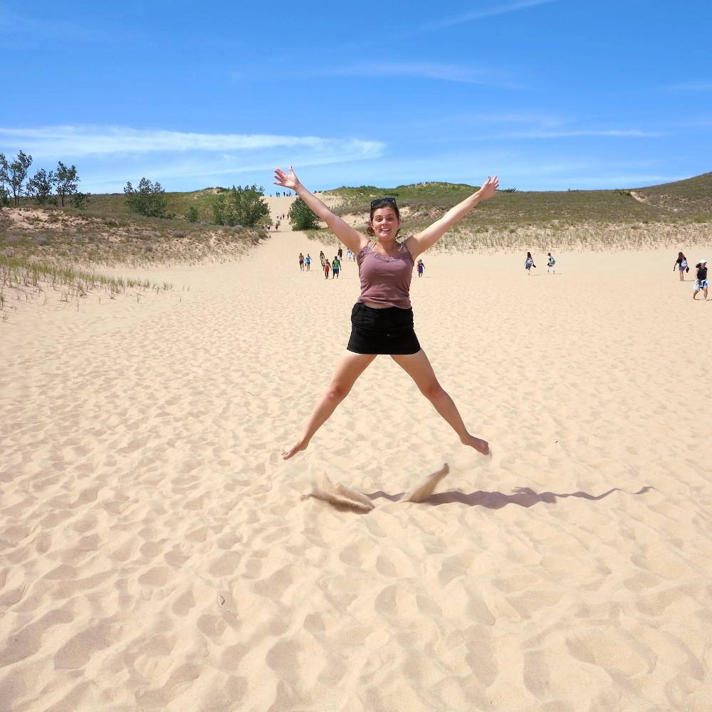 Carmen at Sleeping Bear Dunes Double-Barrelled Travel