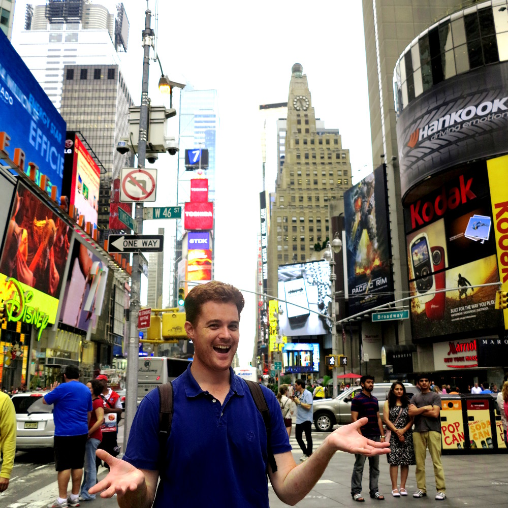 Dave in New York City Double-Barrelled Travel