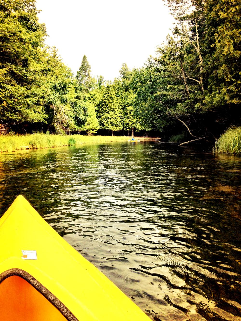 Kayaking on Crystal River in Glen Arbor Double-Barrelled Travel