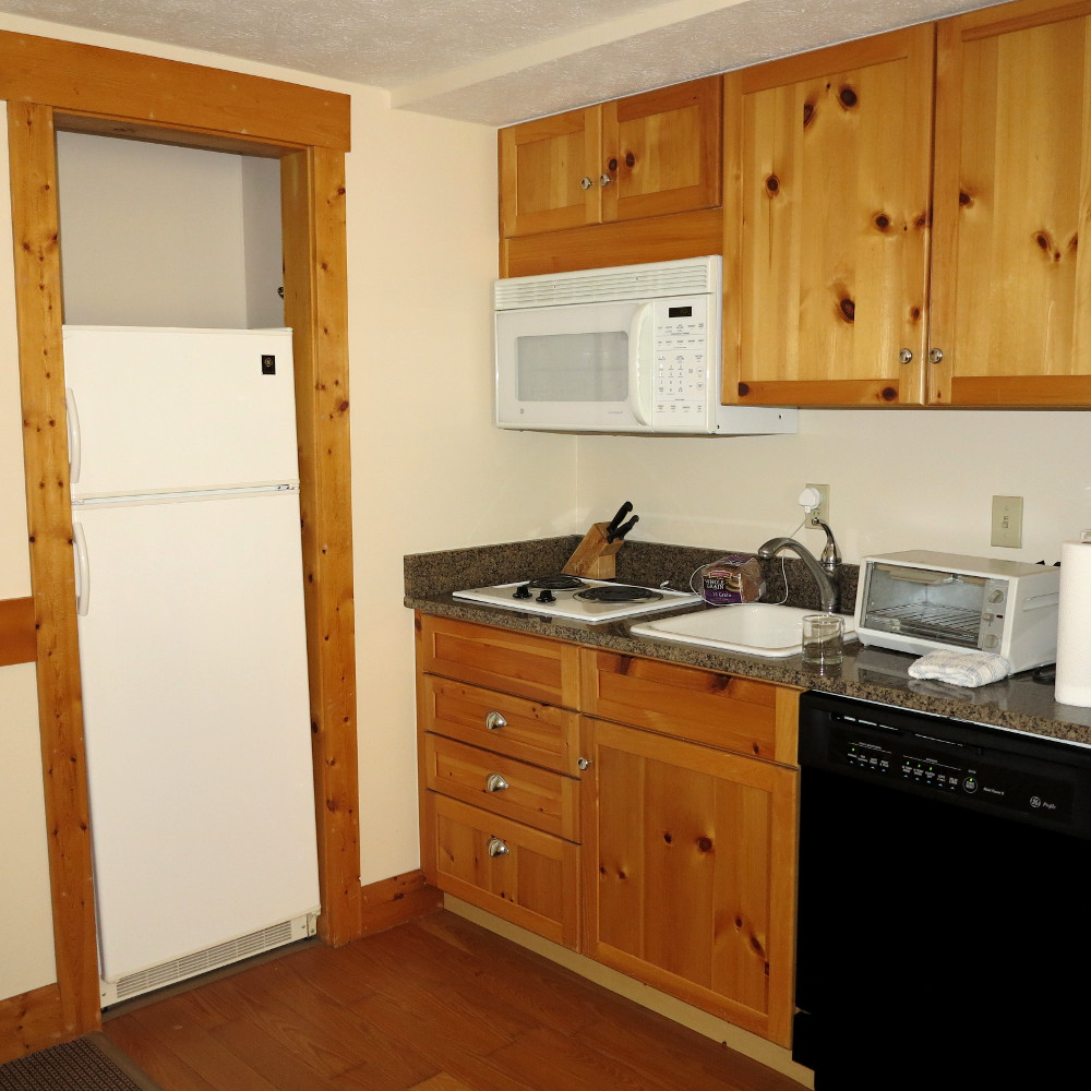 Kitchenette at the Stony Brook Lodge at The Homestead Double-Barrelled Travel