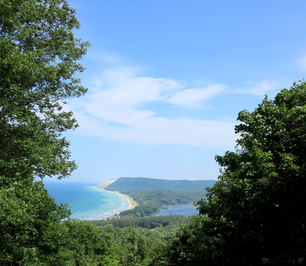 Sleeping bear dunes view Double-Barrelled Travel