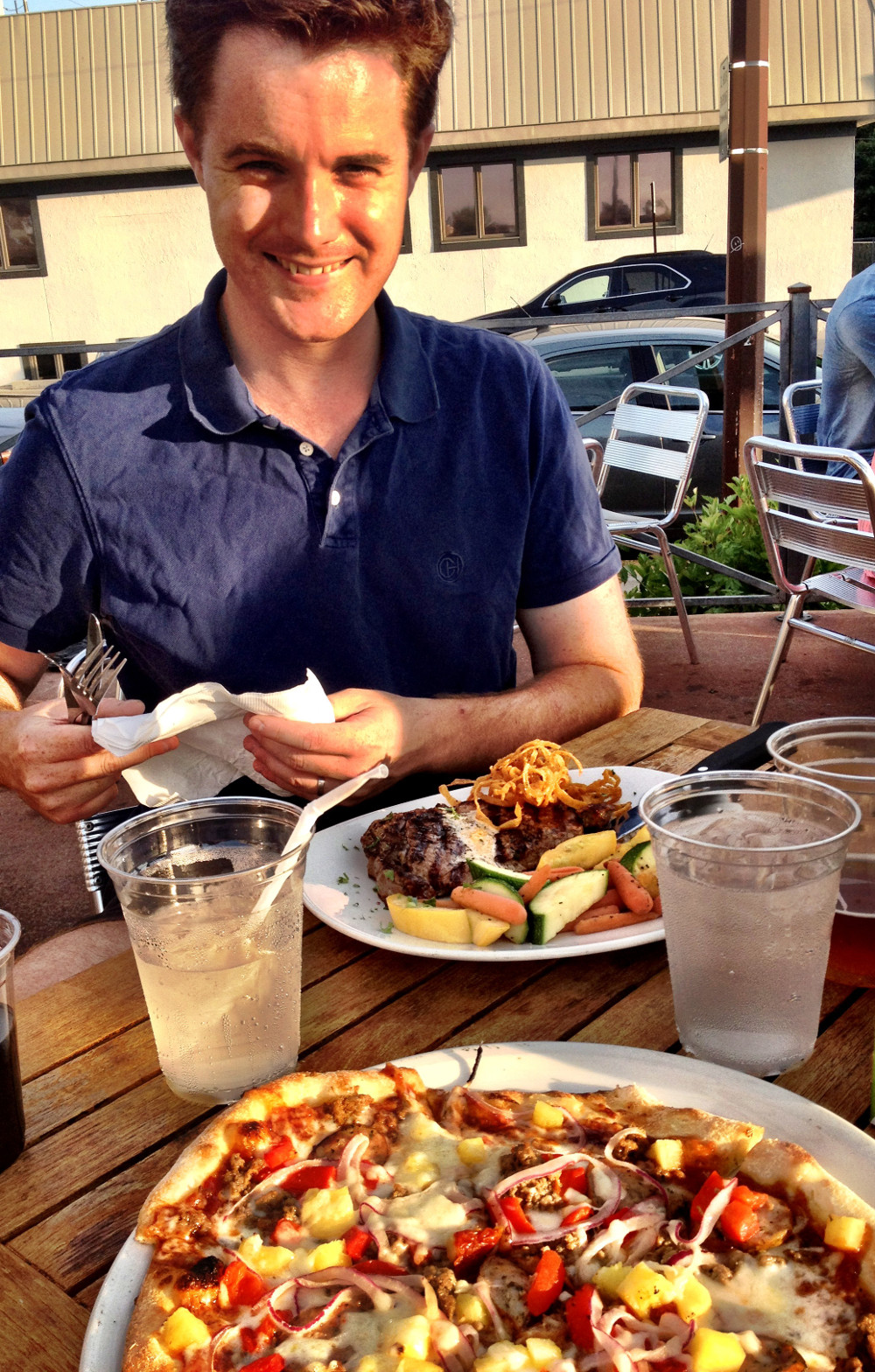 Steak at North Peak Brewery in Traverse City Double-Barrelled Travel