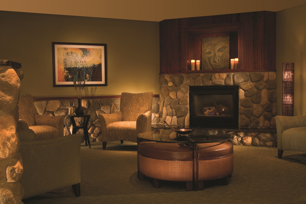 The spa relaxation lounge at the Grand Traverse Resort and Spa Double-Barrelled Travel