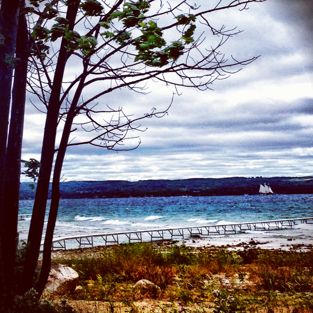 View from Old Mission Peninsula in Traverse City Double-Barrelled Travel
