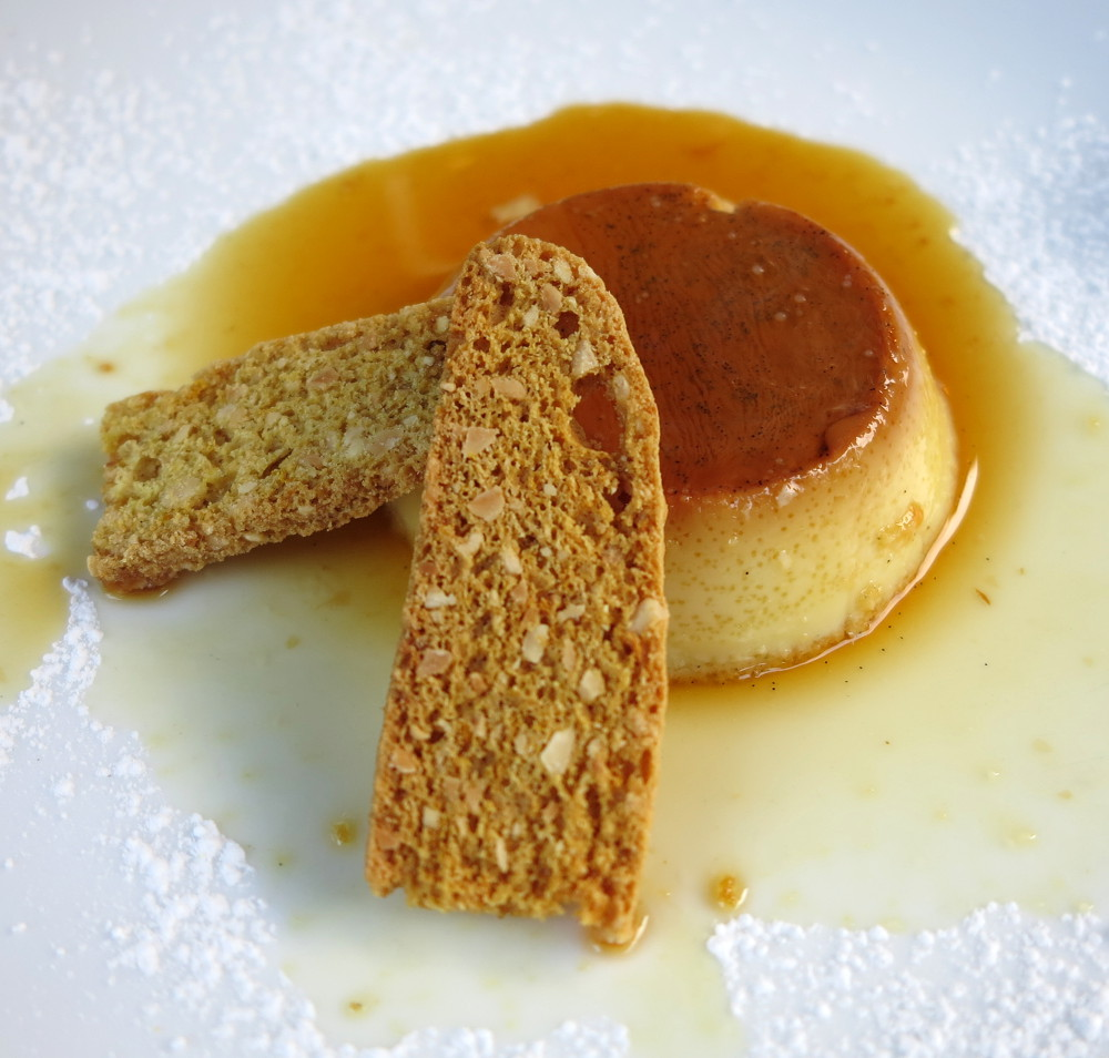 creme caramel at Nonnas at The Homestead Double-Barrelled Travel